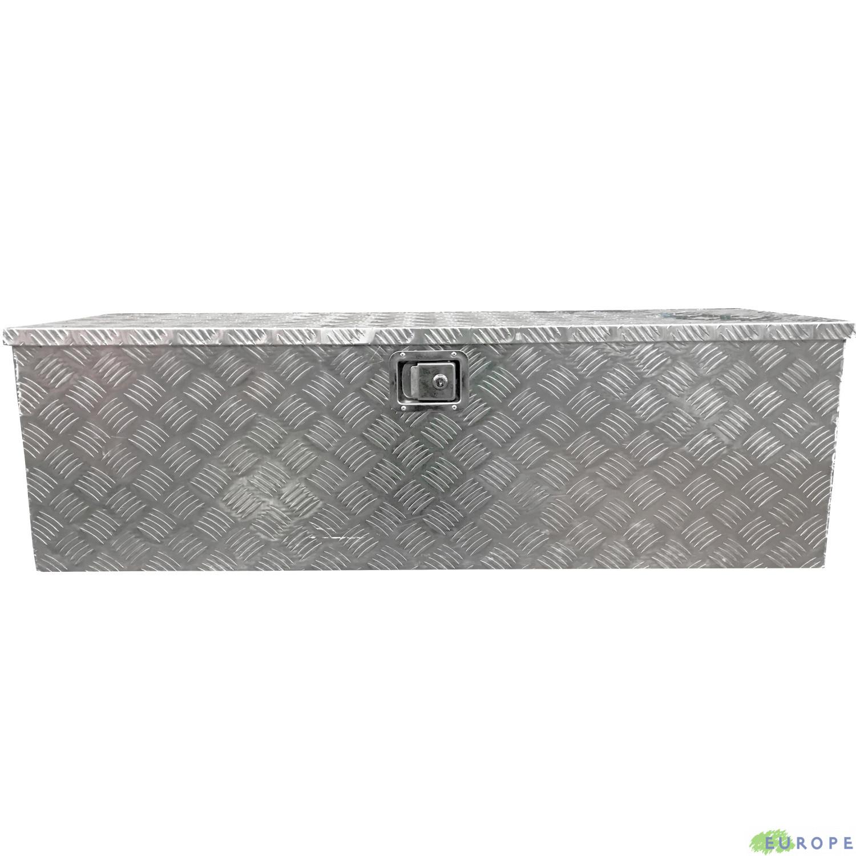 BOX ALLUMINIO GRANDE EUROPE 124 CASSETTA PORTA ATTREZZI 124X38,5X38 CM CON SERRATURA