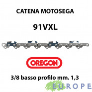 """CATENA PER MOTOSEGA - OREGON 91 VXL passo 3/8"""" Basso Profilo - 1,3 mm"""