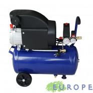COMPRESSORE COASSIALE ARIA EUROPE 25lt MOTORE ELETTRICO 2HP INTERRUTTORE TERMICO