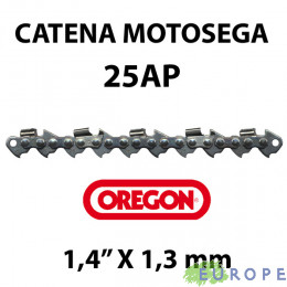 "CATENA PER MOTOSEGA - OREGON 25AP 1/4"" - 1,3 mm"