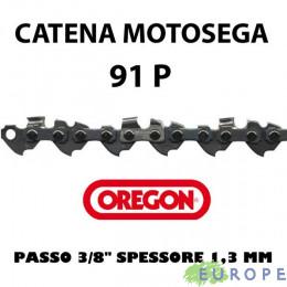 """CATENA PER MOTOSEGA - OREGON 91P 3/8"""" Basso Profilo - 1,3 mm"""